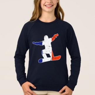 SNOWBOARDER Tricolor francês (branco) Agasalho