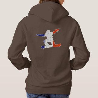 SNOWBOARDER Tricolor francês (branco) Moletom