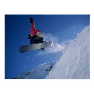 Snowboarding no recurso do Snowbird, Utá (SR.) Cartão Postal