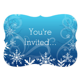 Snowdrift congelado ártico personalizado convite 12.7 x 17.78cm