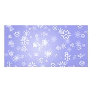 Snowflakes-on-blue-light1688 LUZ - FLOCOS DE NEVE Cartão Com Foto