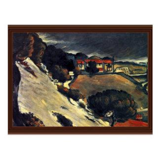 Snowmelt em Estaque por Paul Cézanne (a melhor qua Cartão Postal