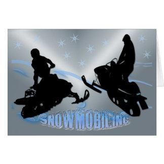 Snowmobiling - cartão de Snowmobilers