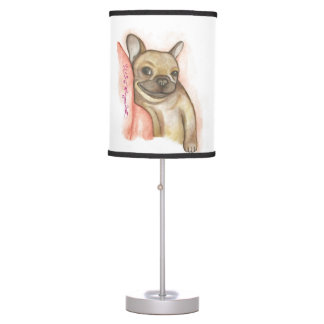 Snuggle acima do candeeiro de mesa do buldogue luminária