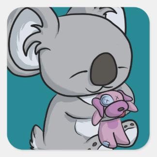Snuggles doces! Koala Adesivo Quadrado