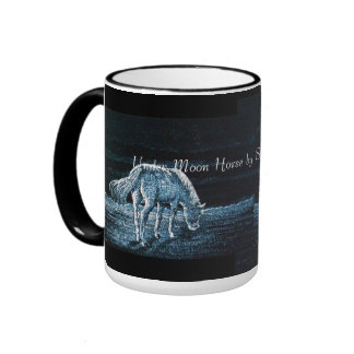 Sob a caneca da campainha do cavalo da lua