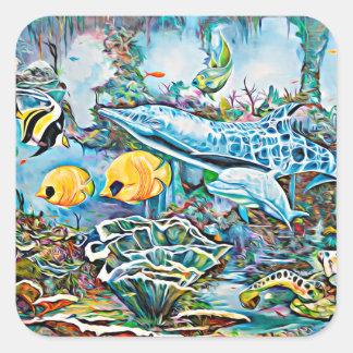 Sob as etiquetas da vista para o mar das criaturas