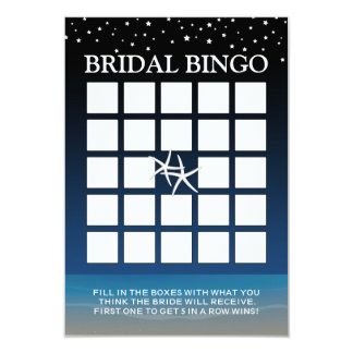 Sob o Bingo do chá de panela da praia da estrela Convite 8.89 X 12.7cm
