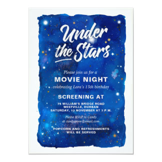 Sob o convite da noite de cinema das estrelas