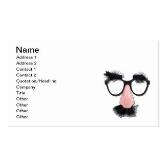 Sobrancelhas do bigode dos vidros cartões de visitas