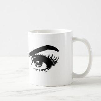 Sobrancelhas do esboço das mulheres caneca de café