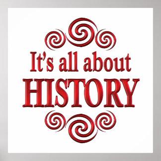 Sobre a história pôsteres
