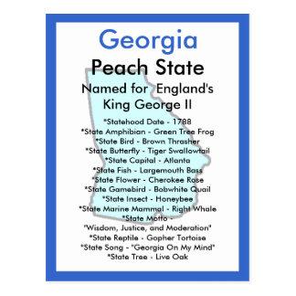 Sobre Geórgia Cartão Postal