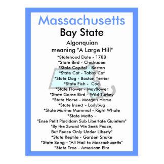 Sobre Massachusetts Cartão Postal
