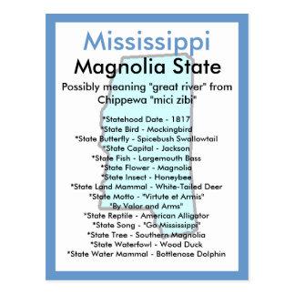 Sobre Mississippi Cartão Postal