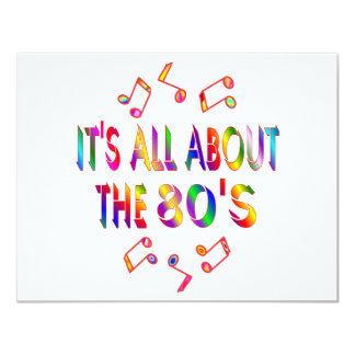 Sobre o anos 80 convites personalizados