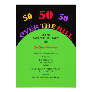 Sobre o convite de aniversário do monte 50th