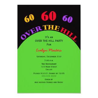 Sobre o convite de aniversário do monte 60th