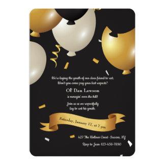 Sobre o convite do aniversário do monte