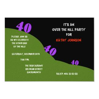 Sobre o monte o partido de aniversário de 40 anos convite