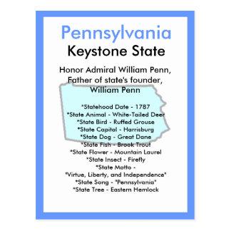 Sobre Pensilvânia Cartão Postal