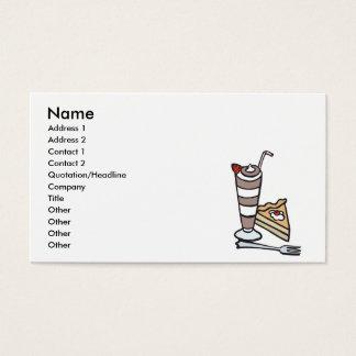 sobremesa da musse de chocolate cartão de visitas