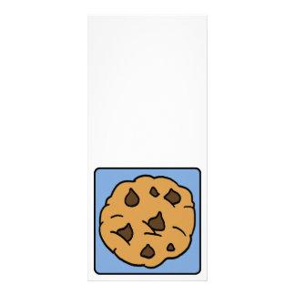 Sobremesa do biscoito dos pedaços de chocolate do 10.16 x 22.86cm panfleto