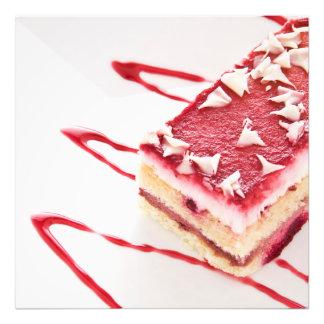 Sobremesa do bolo da framboesa foto