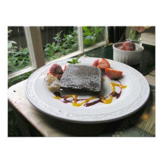 Sobremesa do chocolate impressão de foto