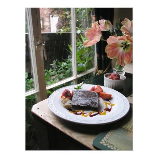 Sobremesa do chocolate foto arte