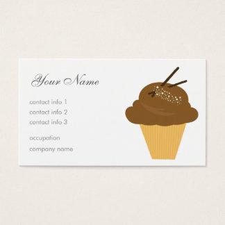 Sobremesa do chocolate cartão de visitas