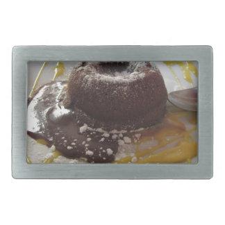 Sobremesa morna do bolo da lava do fundente do