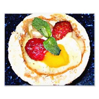 Sobremesa vermelha da morango da comida dos termas impressão de foto