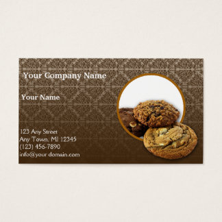 Sobremesas do damasco do chocolate cartão de visitas