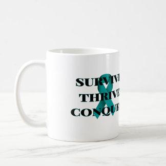 Sobreviva prosperam conquistam a caneca de café