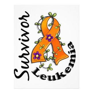Sobrevivente 15 da leucemia panfletos coloridos