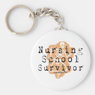 Sobrevivente da escola de cuidados chaveiro
