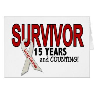 Sobrevivente de câncer do pulmão 15 anos cartoes