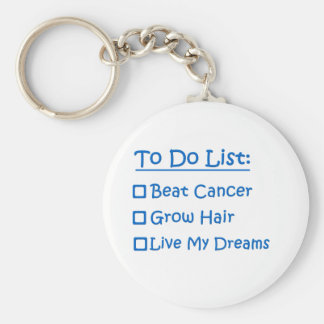 Sobrevivente de câncer para fazer a lista chaveiro