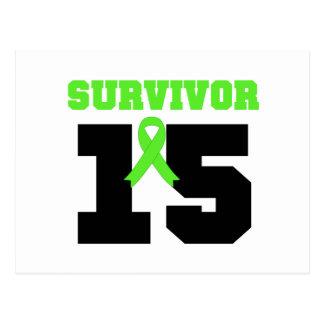 SOBREVIVENTE do linfoma 15 anos Cartoes Postais