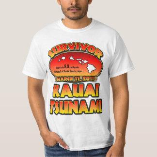 Sobrevivente - tsunami de Kauai, Havaí Tshirt