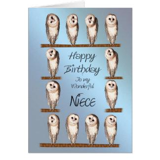 Sobrinha, cartão de aniversário curioso das