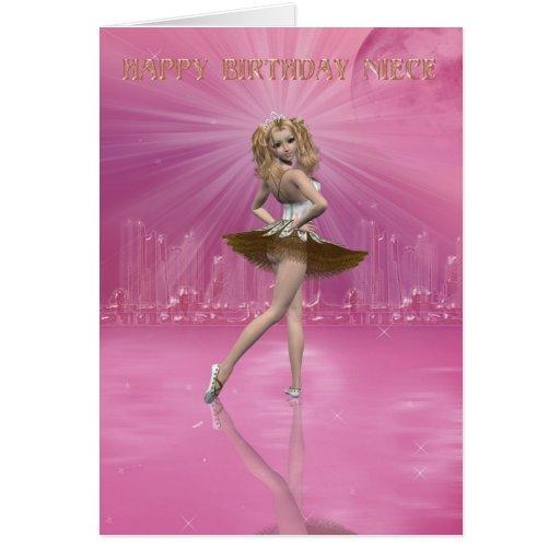 Sobrinha do cartão de aniversário, balé do anivers