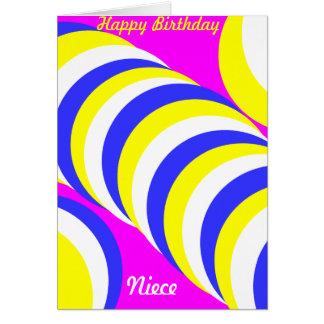 Sobrinha do feliz aniversario cartão comemorativo