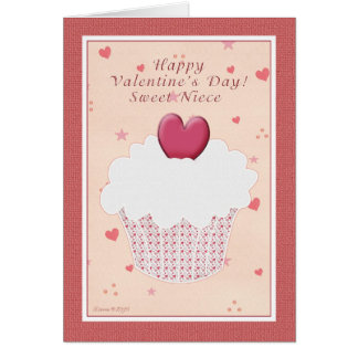 Sobrinha - feliz dia dos namorados - cupcake cartão comemorativo