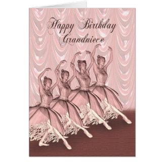Sobrinha grande, um cartão de aniversário da