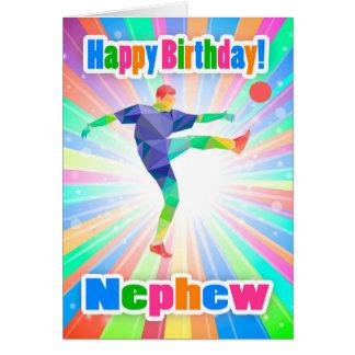 Sobrinho, abstrato colorido do aniversário do cartão comemorativo