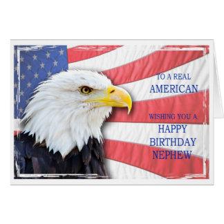 Sobrinho, cartão de aniversário americano