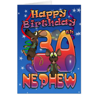 Sobrinho - cartão de aniversário de 30 anos