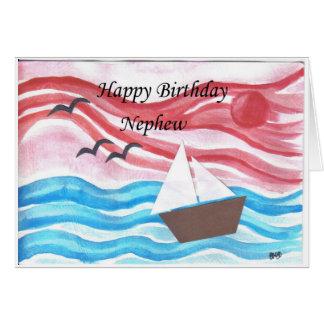 sobrinho do feliz aniversario cartão comemorativo